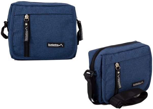 JBMB01 BLUE CROSSBAG W/4 ZIPS AND FLAP