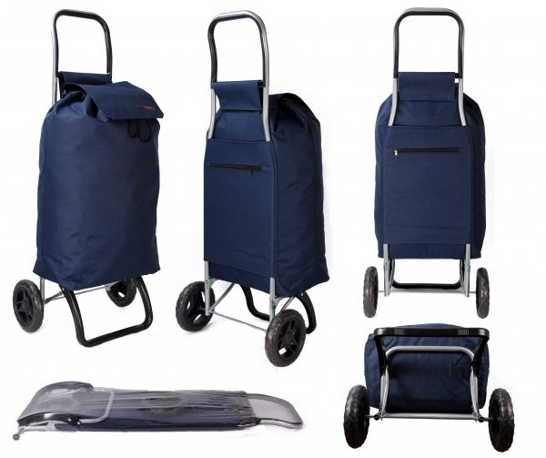 HBY-0127 NAVY SHOPPING TROLLEY