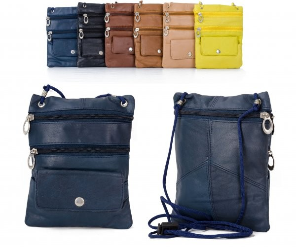 905 BLUE LEATHER/PU CROSSBAG