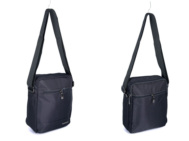 2450 GREY Lorenz shoulder bag with 4 zips