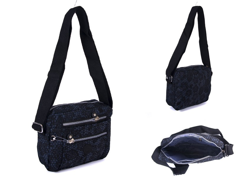 2500 BLK FLORAL Lorenz shoulder bag