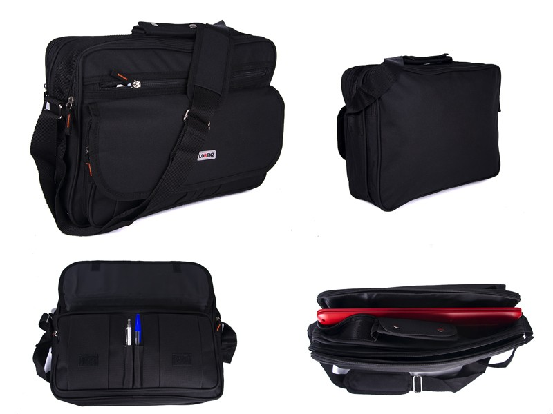 2581 Black LORENZ LAPTOP BAG