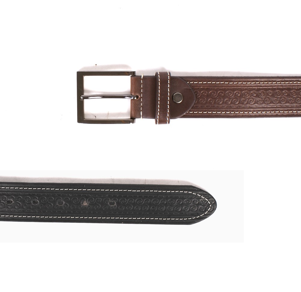 "2750  1.5"" BELT WITH PATTERN&CONTRAST STITCH"