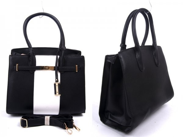 JBFB232 BLACK PU HANDBAG WTH TAG DETACH SHOULDER