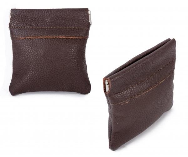 3717 DARK BROWN COIN PURSE