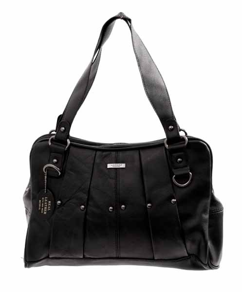3732 BLACK COW HIDE BAG