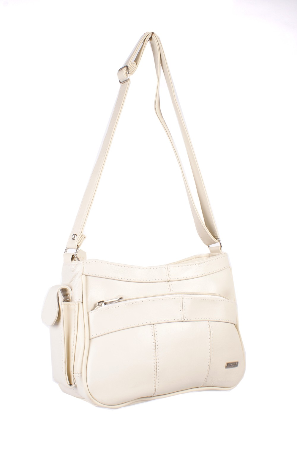 3743 CREAM COW HIDE  BAG