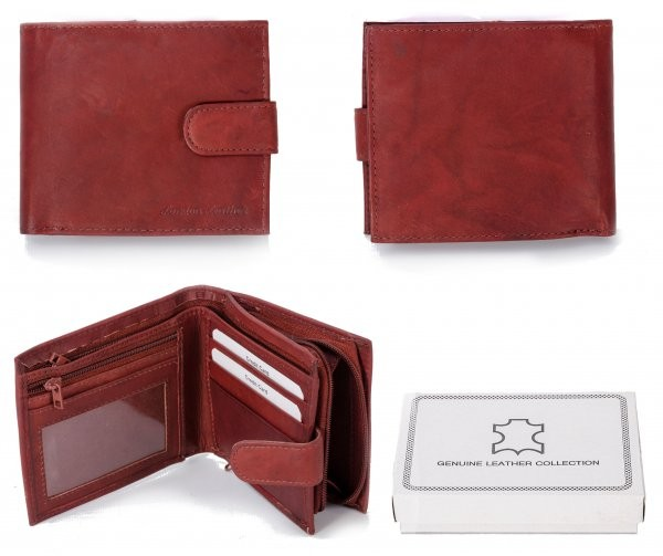 1180 RFID ORANGE LONDON LEATHER WALLET W/ COIN SECTION