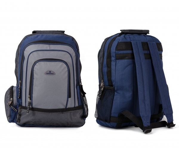 ABP-75 BLUE RUCKSACK W/ ZIPPERS