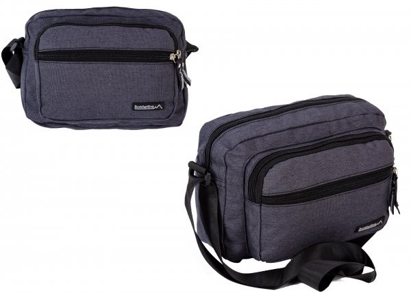 JBMB05 BLACK CROSSBAG W/ 3 ZIPS