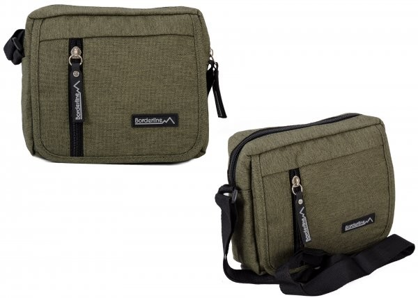 JBMB01 GREEN CROSSBAG W/4 ZIPS AND FLAP