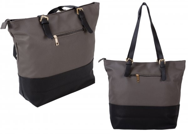 JBFB263 GREY/BLACK PU HANDBAG