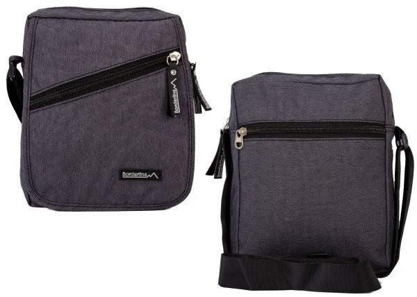 JBMB03 BLACK CROSSBAG W/ FLAP & 3 ZIPS