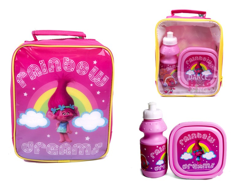 4105V-6572 TROLLS lunch bag with box and bottle