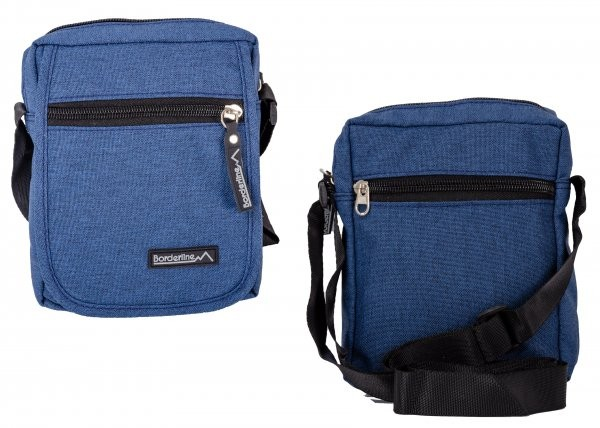 JBMB02 BLUE CROSSBAG W/ FLAP & 3 ZIPS