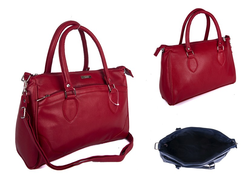 5883 RED Lorenz shoulder bag with 2 zips