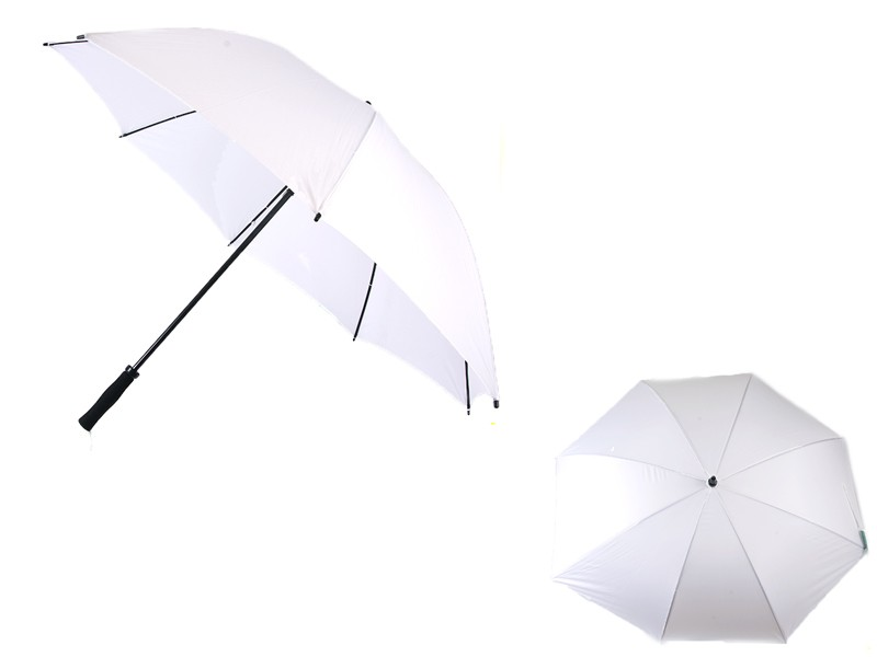60516 WHITE GOLFING UMBRELLA