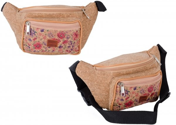 7205 WILD FLOWERS BUMBAG WITH FRONT ZIPPED POCKET