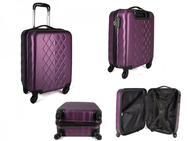 "JB2017 PURPLE 20"" CABIN TROLLEY CASE"