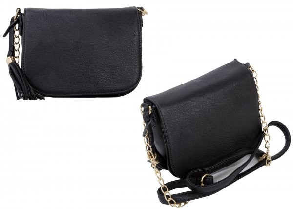 JBFB103 BLACK PU CROSS BODY BAG