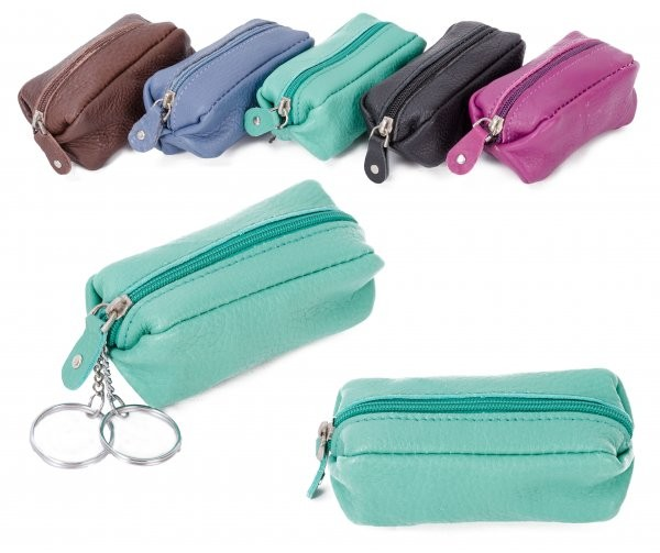 CPDM 51 CYAN LONG COIN PURSE W/ 2 KEYRINGS