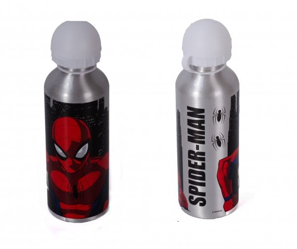 4020-7709M ALUMINIUM WATER BOTTLE 500ML SPIDERMAN