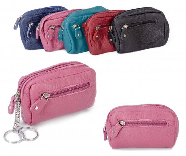 CPDM 53 PINK COIN/KEY PURSE W/ ZIPS