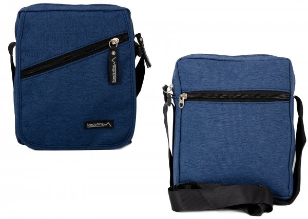 JBMB03 BLUE CROSSBAG W/ FLAP & 3 ZIPS