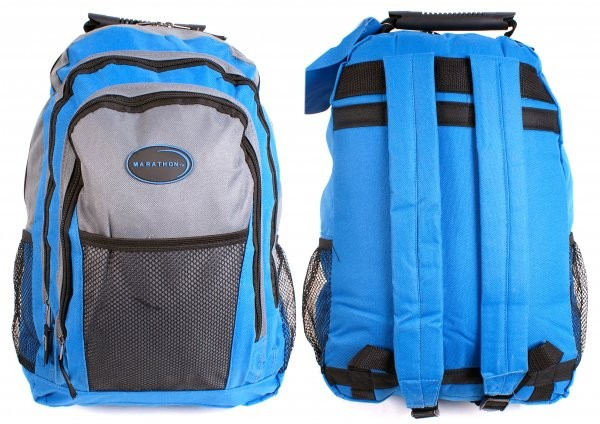 MB-68 SKY BLUE MARATHON MULTI ZIP BACKPACK - I034