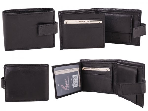 175 - PIYARI BLACK GENUINE LEATHER WALLET