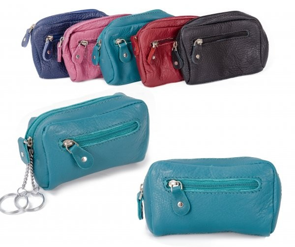 CPDM 53 CYAN COIN/KEY PURSE W/ ZIPS