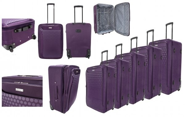 EV-426 2-WHEELED SOFTCASE LUGGAGE SET OF 5 IN PLUM