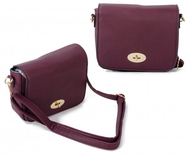 JBFB241 RED WINE CROSS BODY PU BAG WITH FLAP