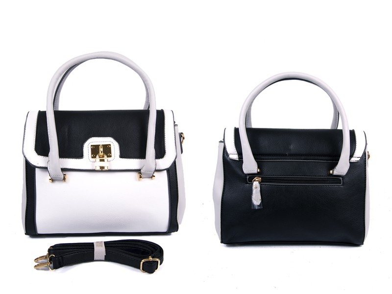 JBFB221 BLACK PU BAG WTH MAG FLAP AND 3 PKTS