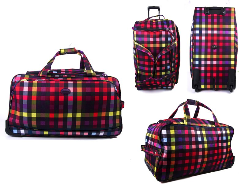 "HBY-0014 (28"") MULTI CHECK WHEELED HOLDALL"