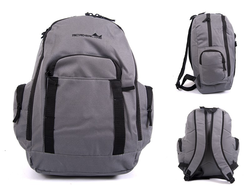 JBBP268 GREY MULTI ZIP PKT BACKPACK