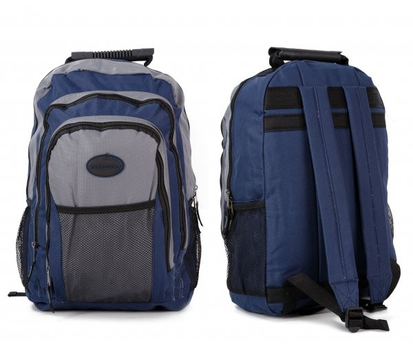 MB-68 BLUE RUCKSACK WITH ZIPS