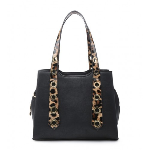 W6110 Shoulder Bag -Black/Brown