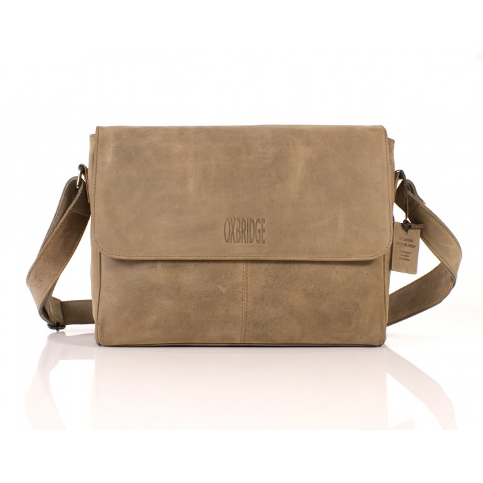 112 LEATHER MESSENGER OLIVE