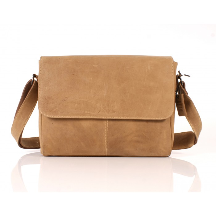 112 LEATHER MESSENGER TAN