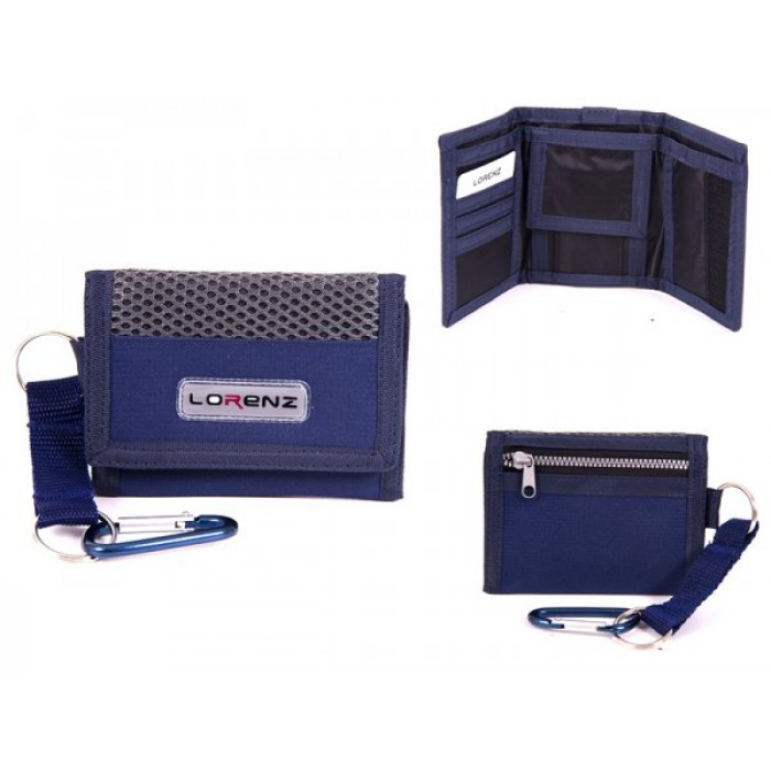 7999 NAVY SMALL TRIFOLD SPORTS WALLET WITH BELT HOOK