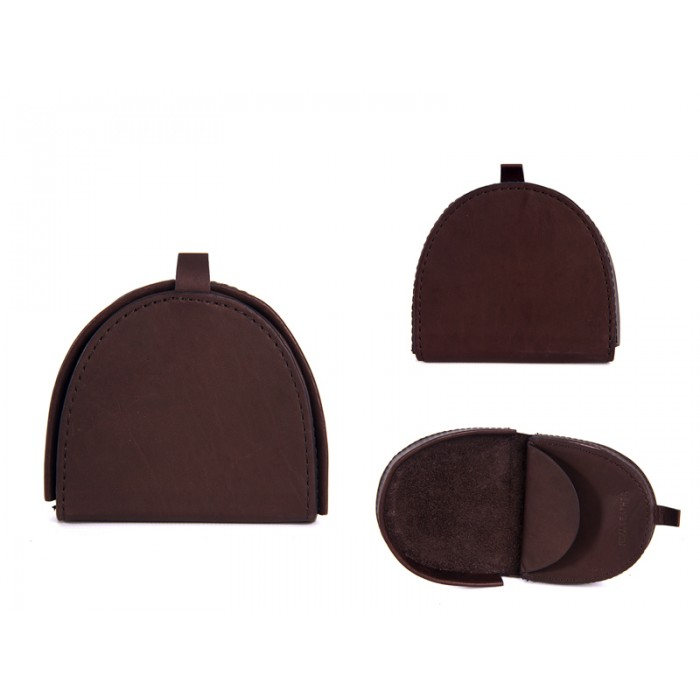 0690 BROWN 100% LEATHER COIN POCKET