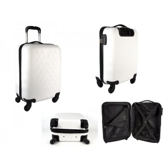 "JB2017 WHITE 20"" CABIN TROLLEY CASE"