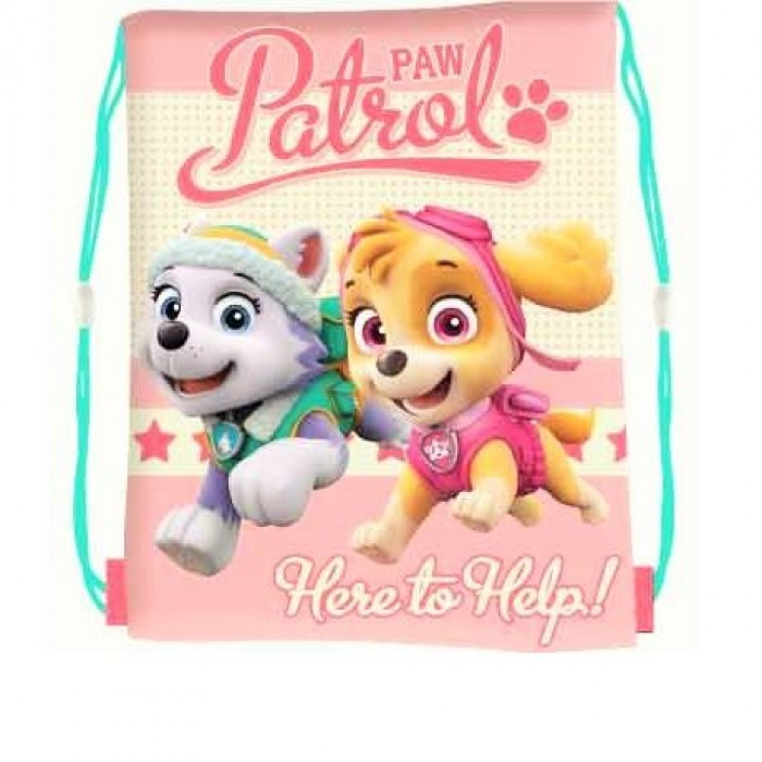 Pull String Bag Paw Patrol Skye/ Everest