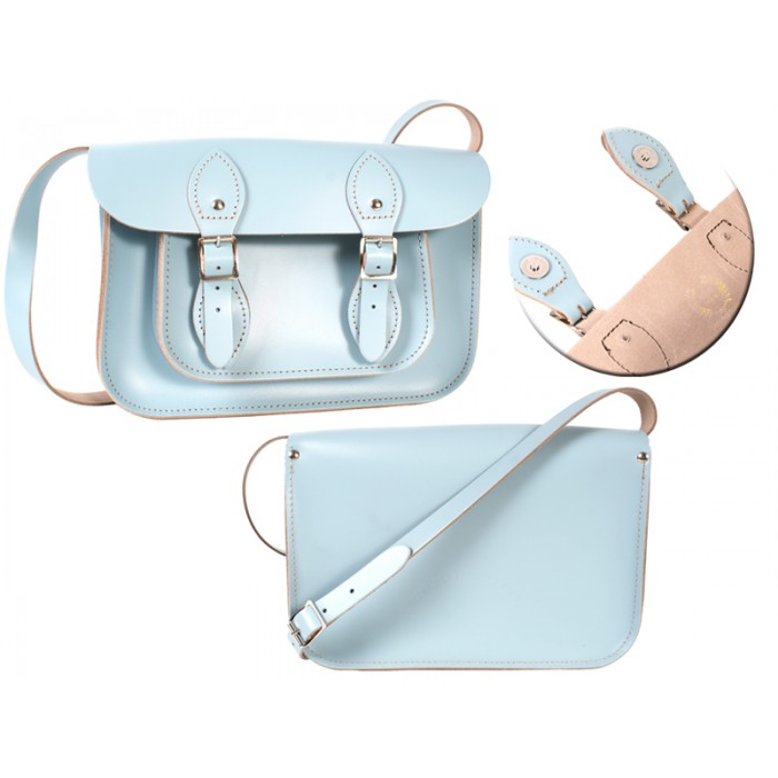 11 BABY BLUE MAGNETIC ENGLISH SATCHEL