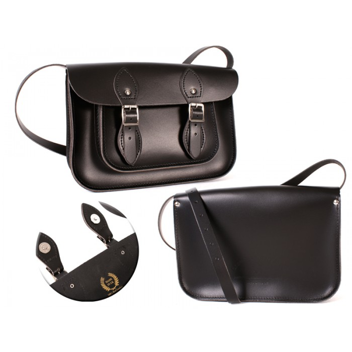 11 BLACK MAGNETIC ENGLISH SATCHEL