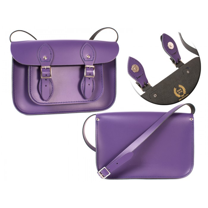 11 DEEP PURPLE MAGNETIC ENGLISH SATCHEL