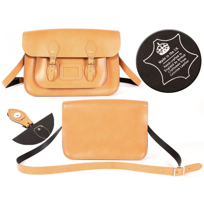 14 AUTUMN TAN MAGNET ENGLISH SATCHEL