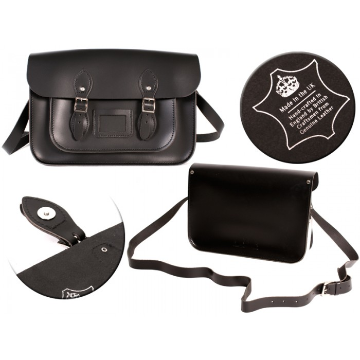 14 BLACK MAGNET ENGLISH SATCHEL