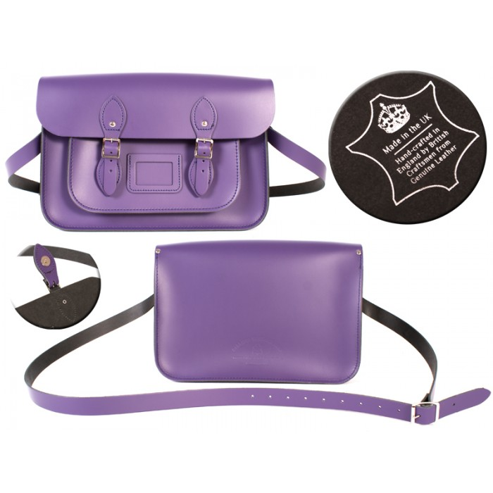 14 DEEP PURPLE MAGNET ENGLISH SATCHEL